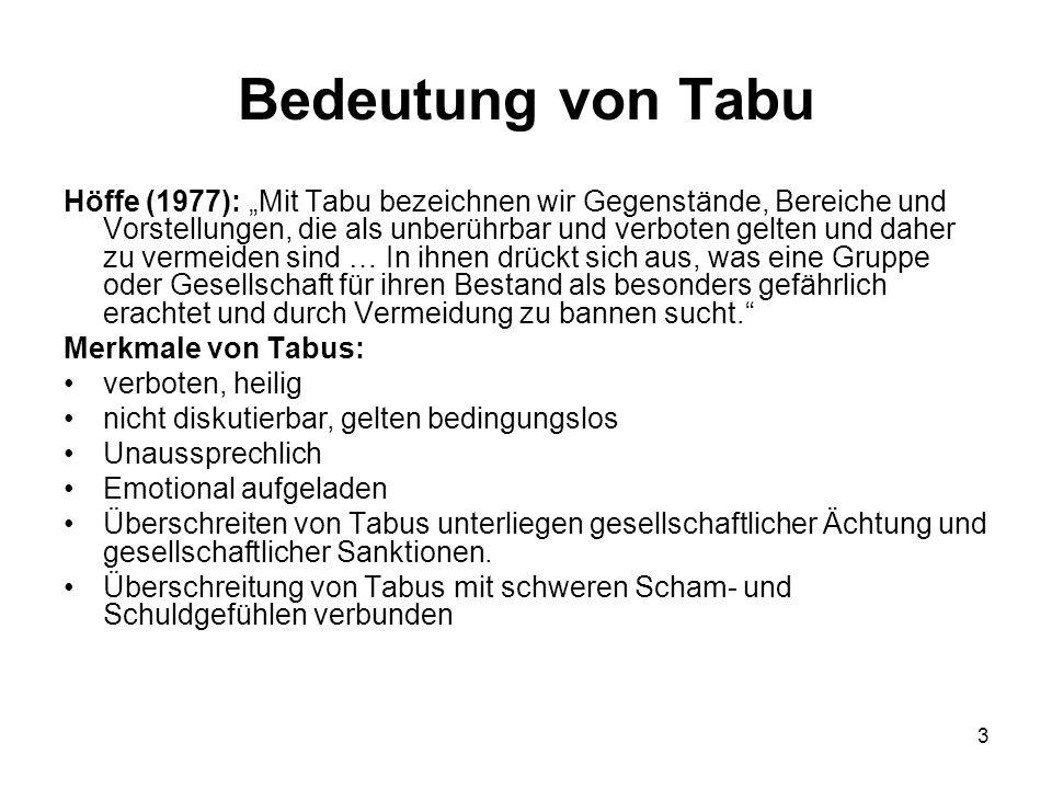 Bedeutung von Tabu