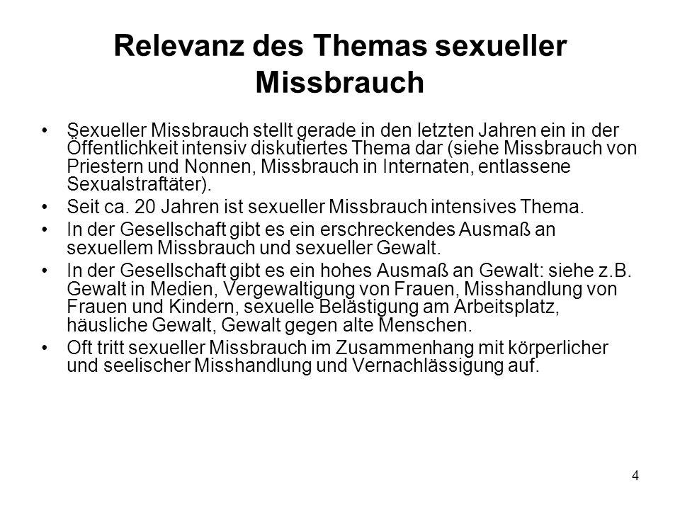 Relevanz des Themas sexueller Missbrauch