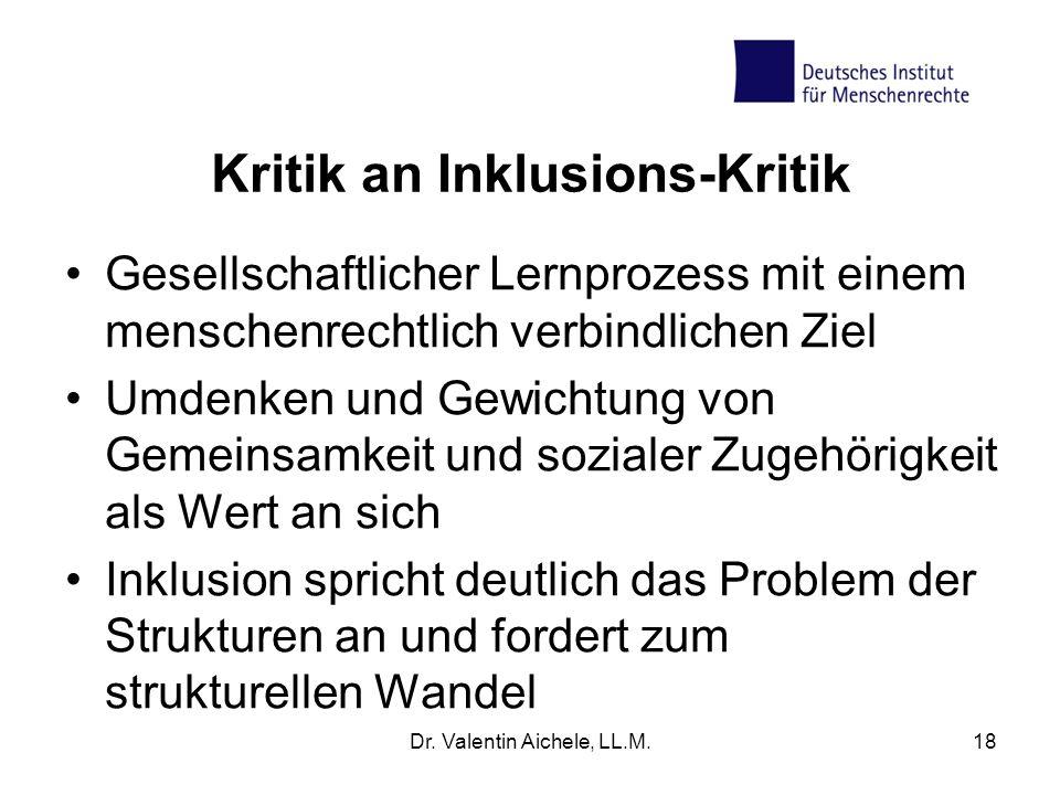 Kritik an Inklusions-Kritik