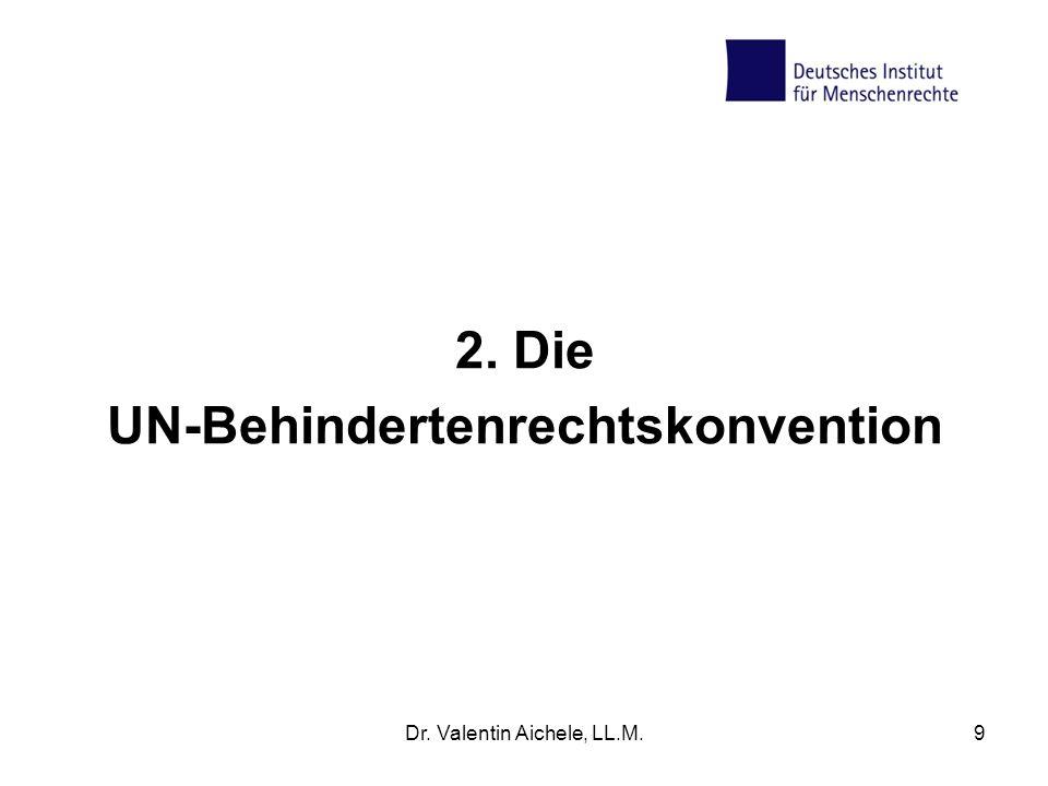 2. Die UN-Behindertenrechtskonvention