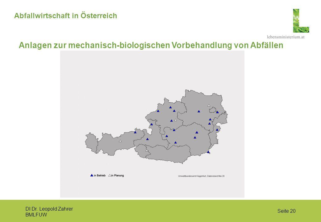 Anlagen zur mechanisch-biologischen Vorbehandlung von Abfällen