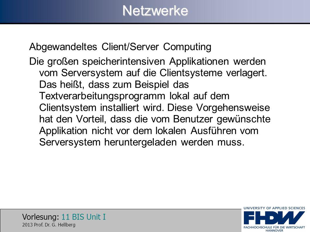 Netzwerke Abgewandeltes Client/Server Computing