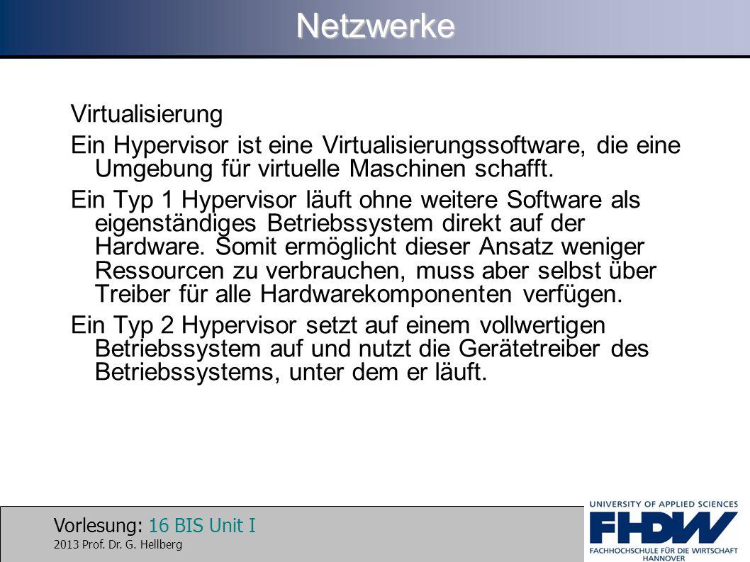 Netzwerke Virtualisierung