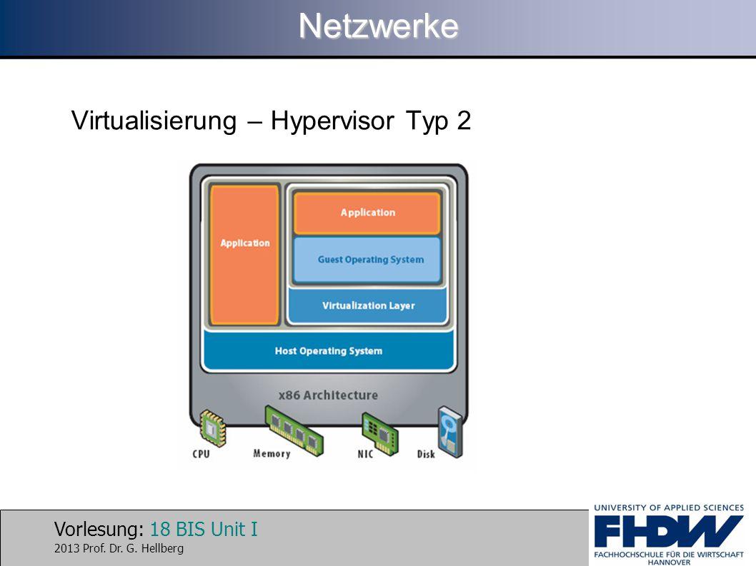 Netzwerke Virtualisierung – Hypervisor Typ 2