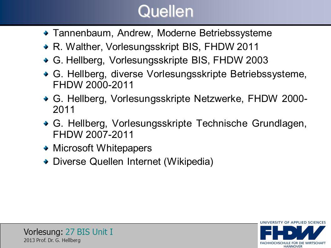 Quellen Tannenbaum, Andrew, Moderne Betriebssysteme