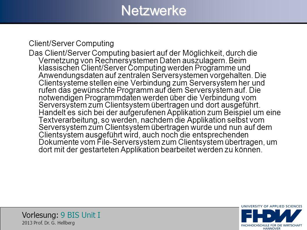 Netzwerke Client/Server Computing