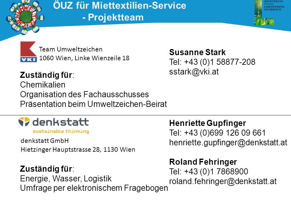 ÖUZ für Miettextilien-Service - Projektteam
