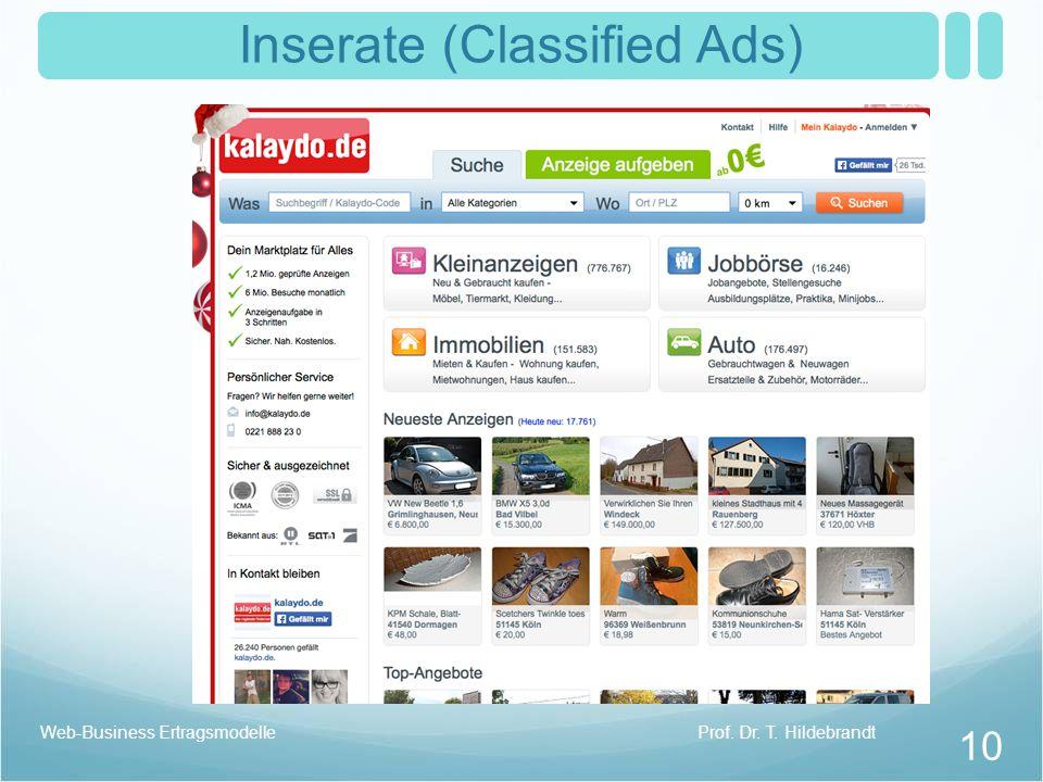 Inserate (Classified Ads)