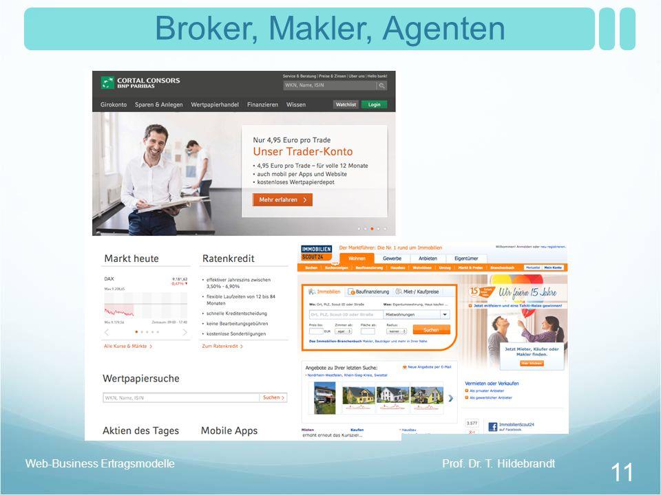 Broker, Makler, Agenten Web-Business Ertragsmodelle