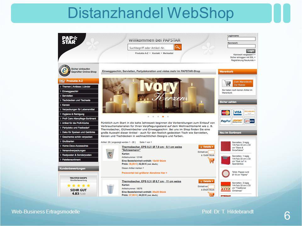 Distanzhandel WebShop