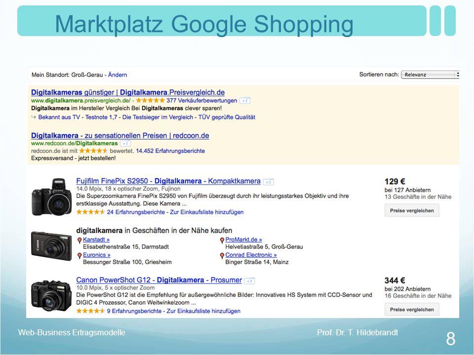 Marktplatz Google Shopping