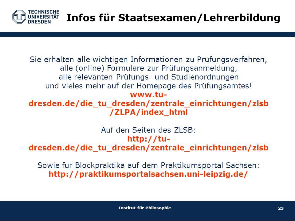 Infos für Staatsexamen/Lehrerbildung