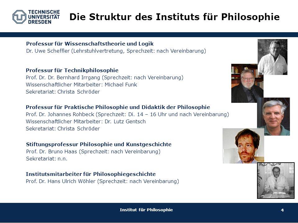 Die Struktur des Instituts für Philosophie