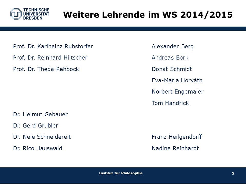 Weitere Lehrende im WS 2014/2015