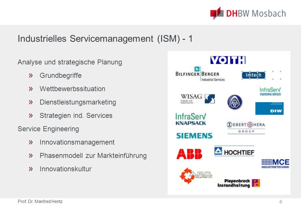 Industrielles Servicemanagement (ISM) - 2