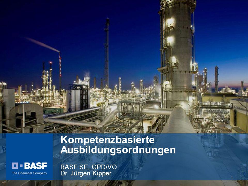 Kompetenzbasierte Ausbildungsordnungen BASF SE, GPD/VO Dr
