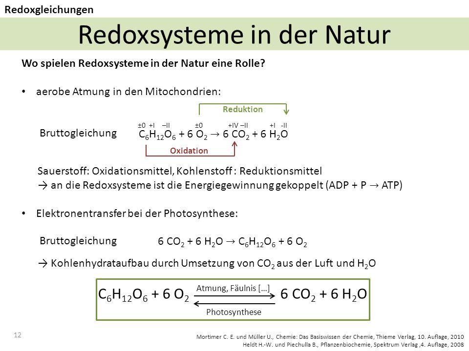 Redoxsysteme in der Natur
