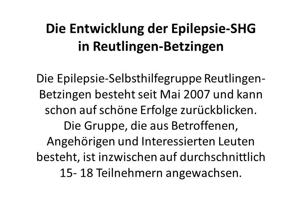 Die Entwicklung der Epilepsie-SHG