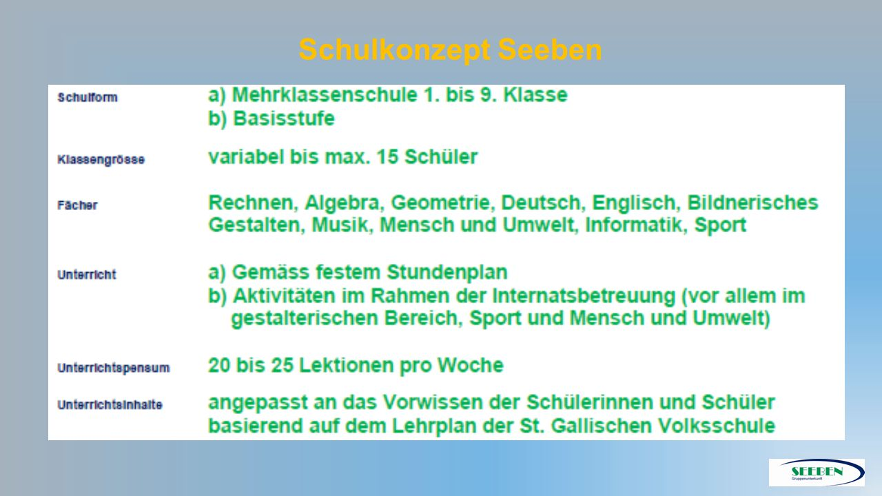 Schulkonzept Seeben