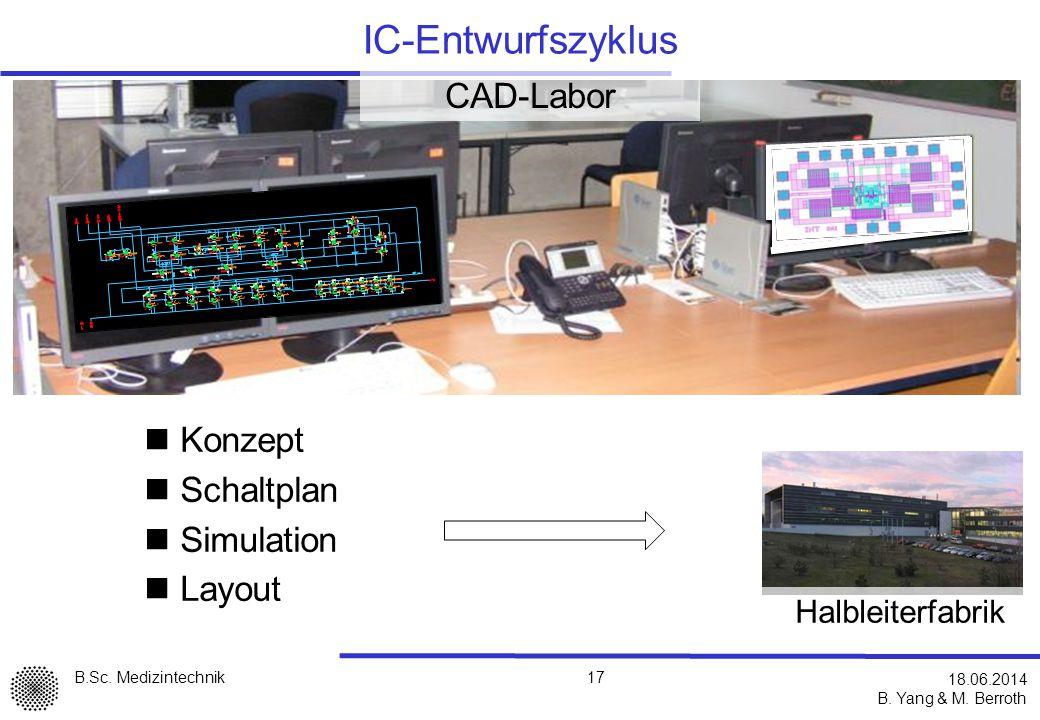 IC-Entwurfszyklus CAD-Labor Konzept Schaltplan Simulation Layout