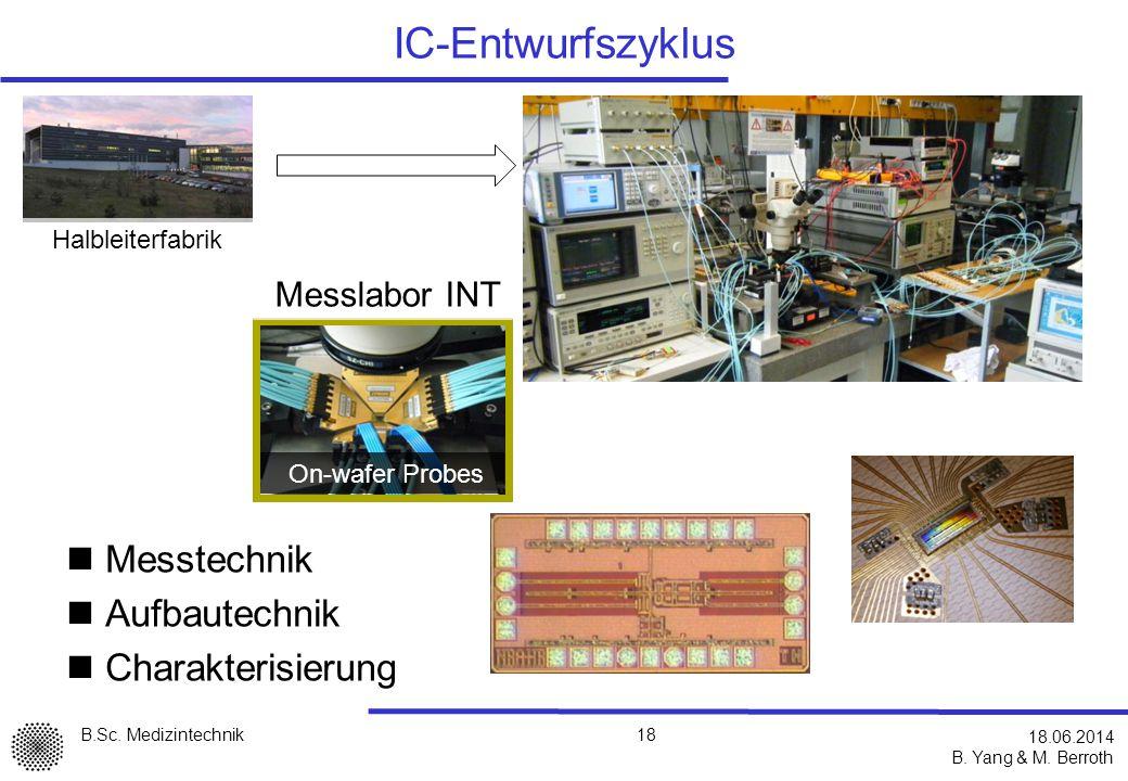 IC-Entwurfszyklus Messtechnik Aufbautechnik Charakterisierung