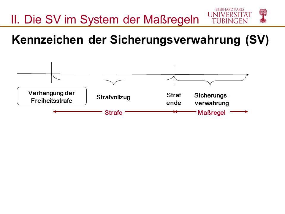 Kennzeichen der Sicherungsverwahrung (SV)