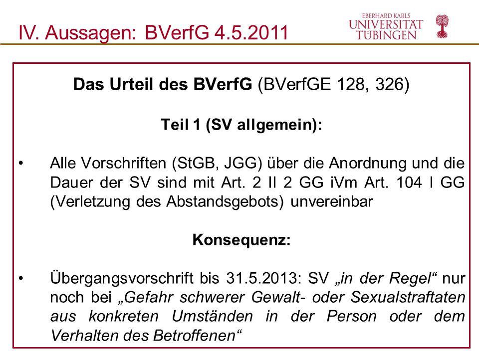 Das Urteil des BVerfG (BVerfGE 128, 326)