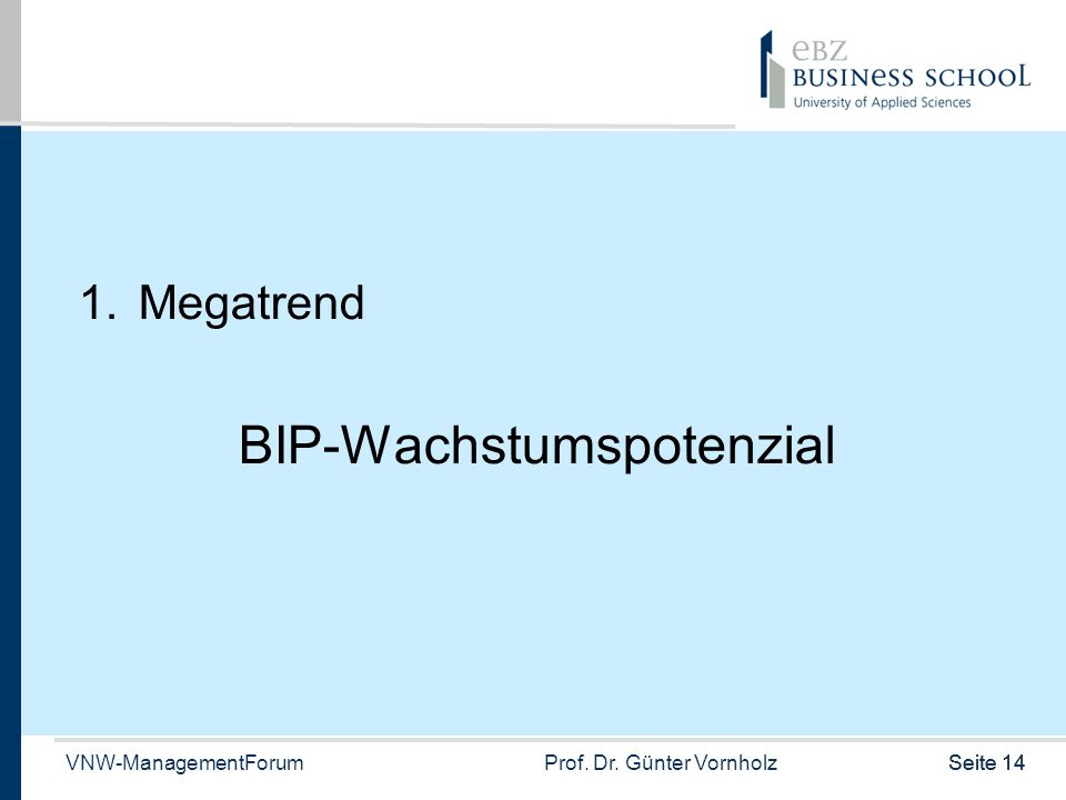 BIP-Wachstumspotenzial