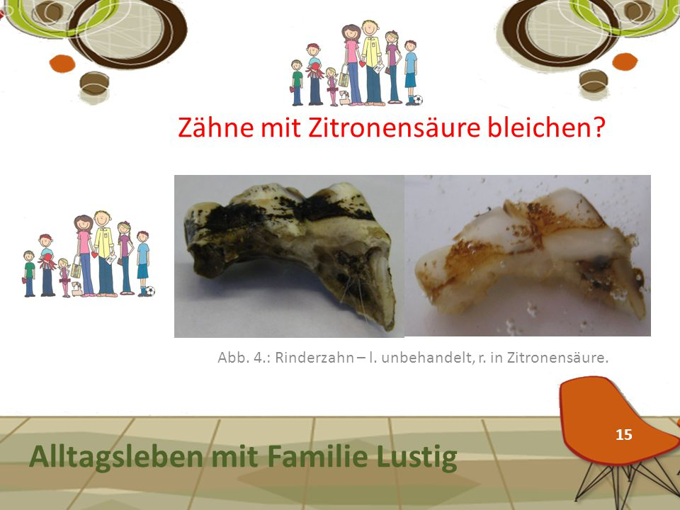 Alltagsleben mit Familie Lustig