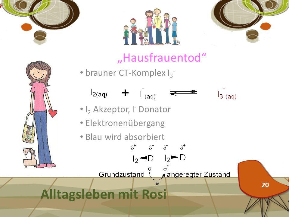 """Alltagsleben mit Rosi """"Hausfrauentod brauner CT-Komplex I3-"""