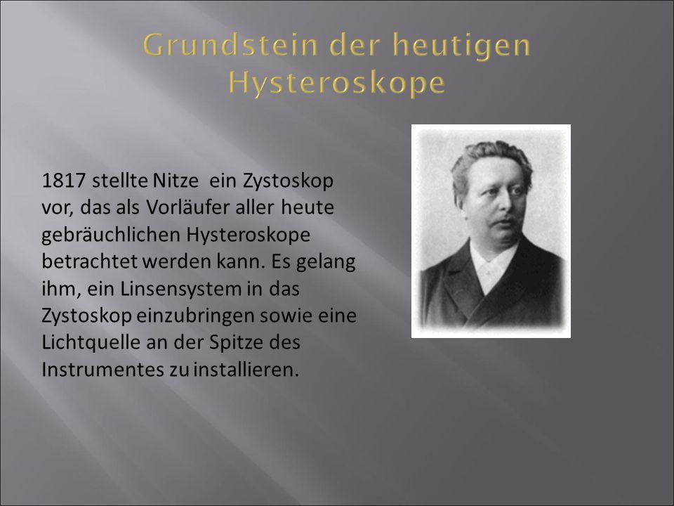 Grundstein der heutigen Hysteroskope