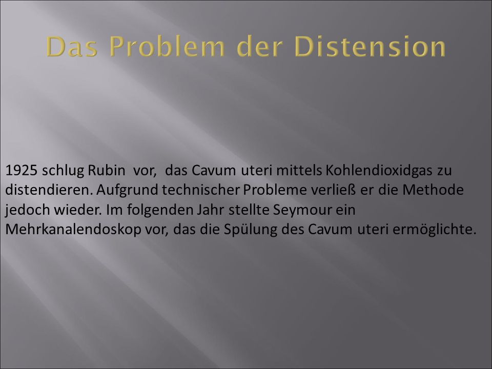 Das Problem der Distension