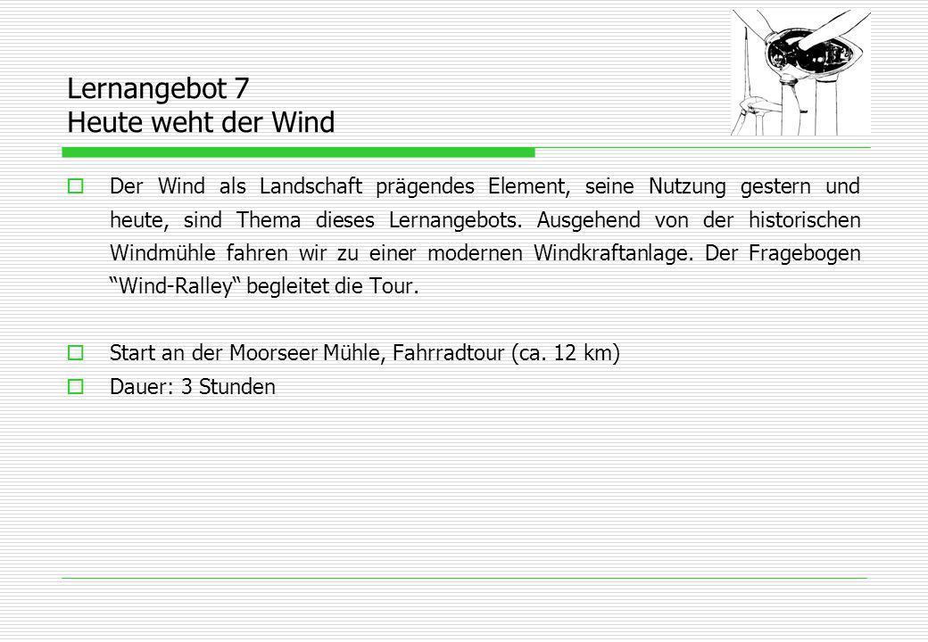 Lernangebot 7 Heute weht der Wind