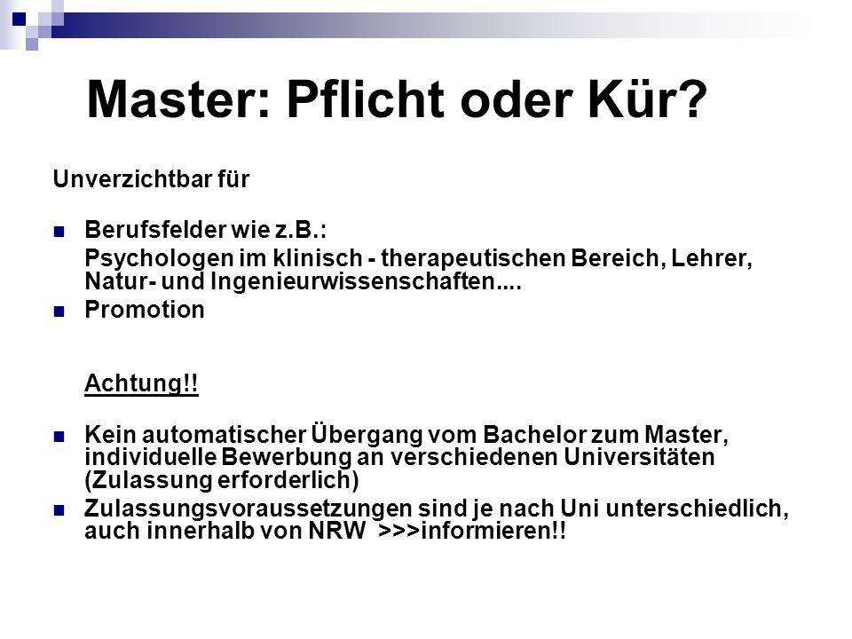 Master: Pflicht oder Kür