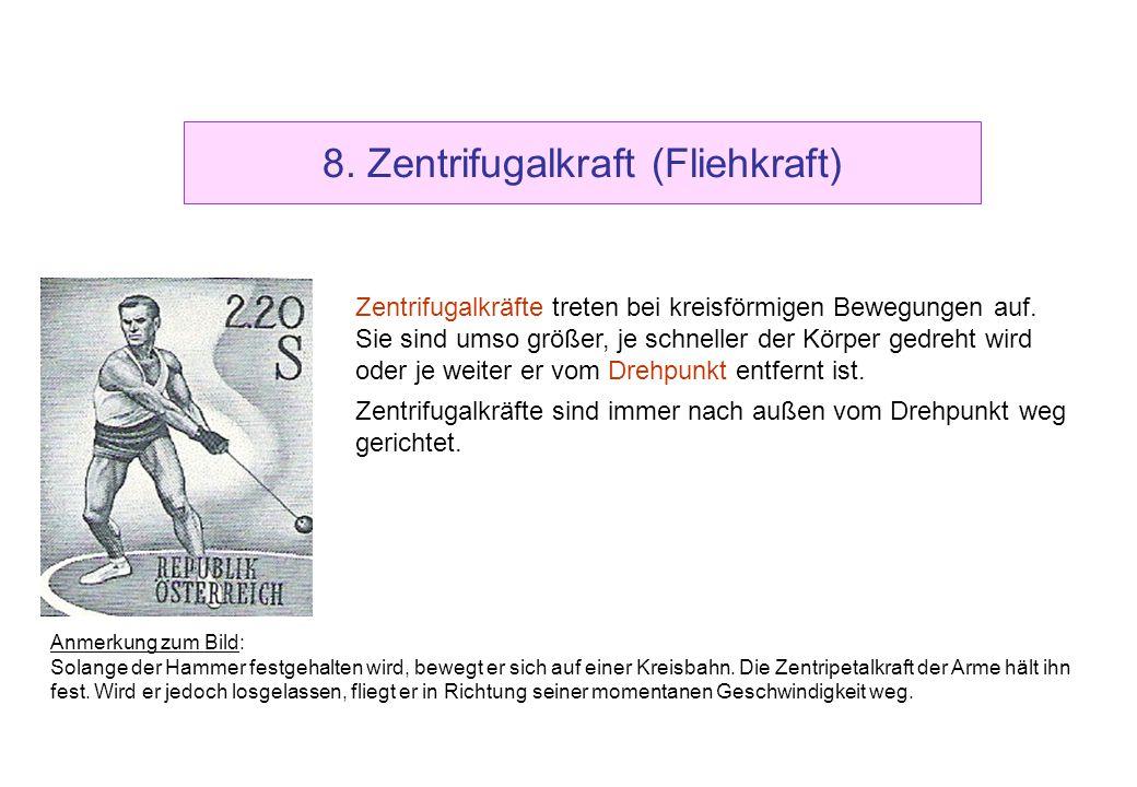 8. Zentrifugalkraft (Fliehkraft)