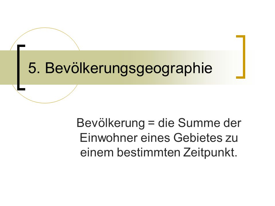 5. Bevölkerungsgeographie