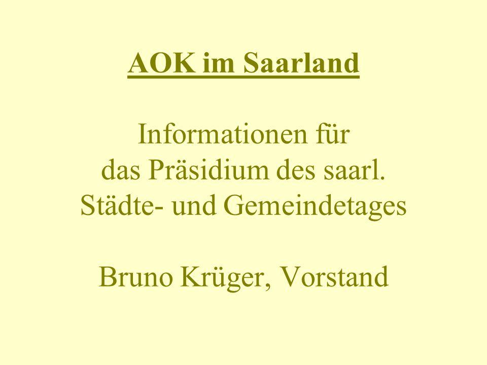 AOK im Saarland Informationen für das Präsidium des saarl