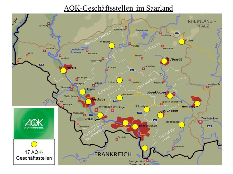 AOK-Geschäftsstellen im Saarland