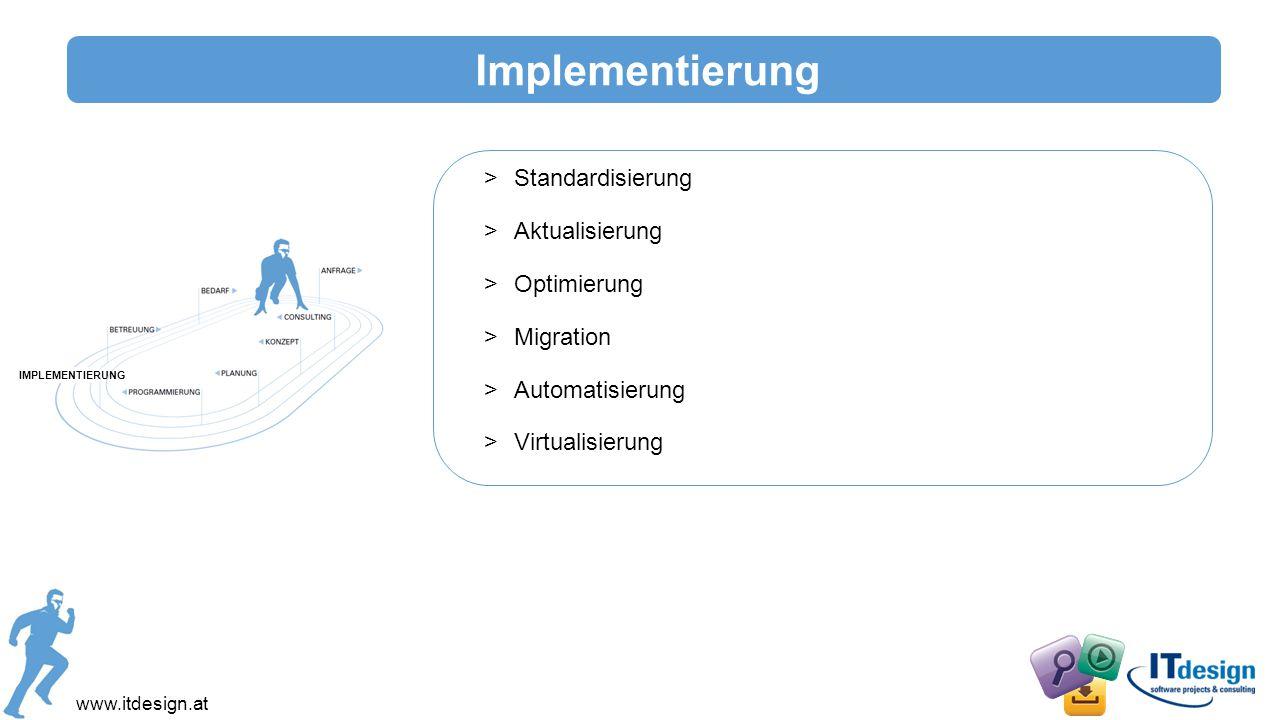 Implementierung Standardisierung Aktualisierung Optimierung Migration
