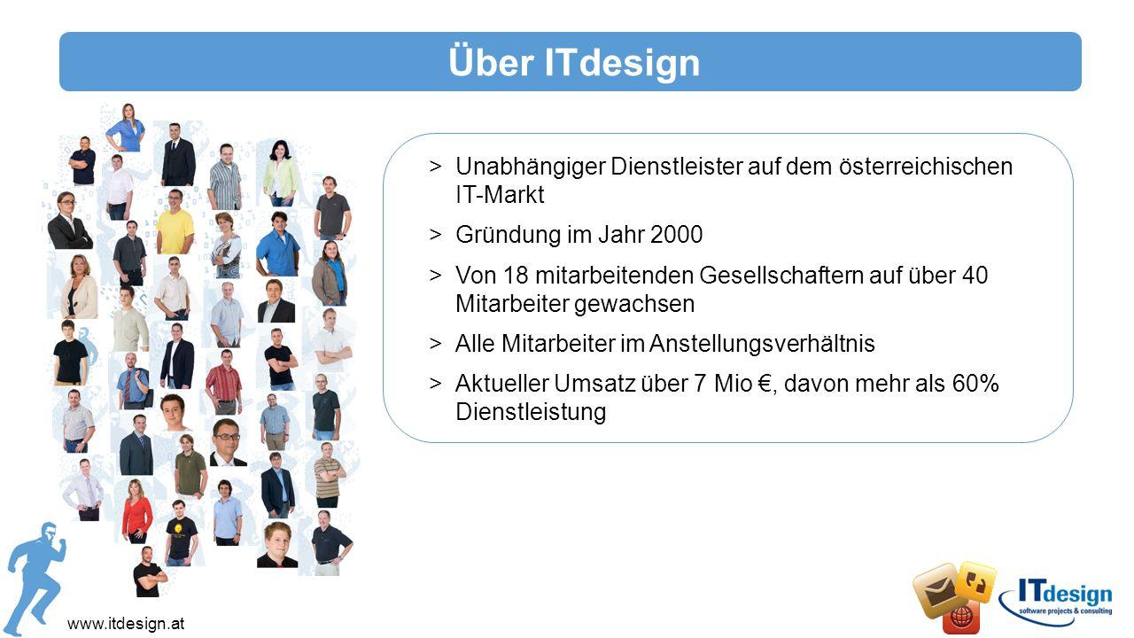 Über ITdesign Unabhängiger Dienstleister auf dem österreichischen IT-Markt. Gründung im Jahr 2000.