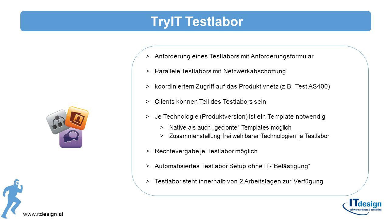 TryIT Testlabor Anforderung eines Testlabors mit Anforderungsformular