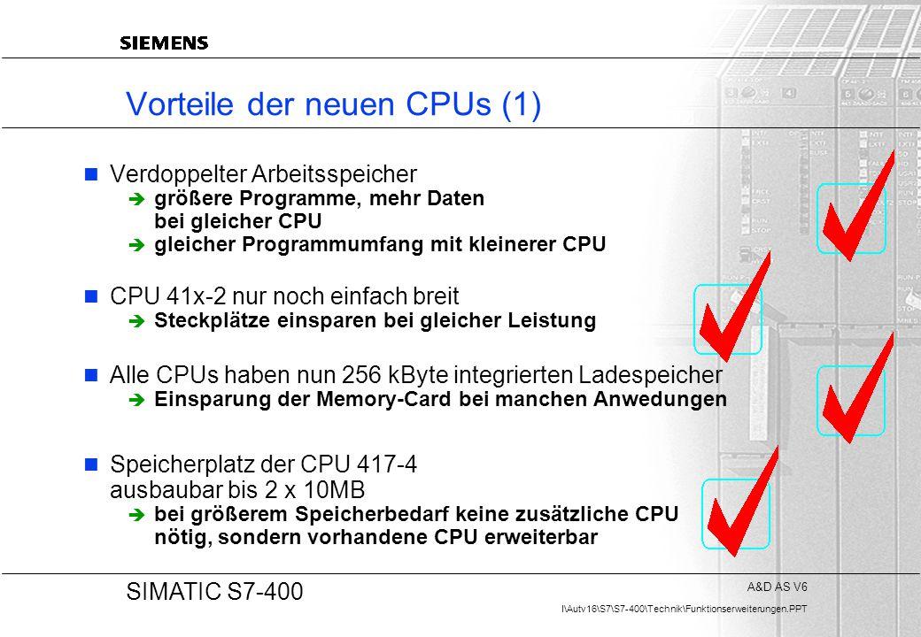 Vorteile der neuen CPUs (1)
