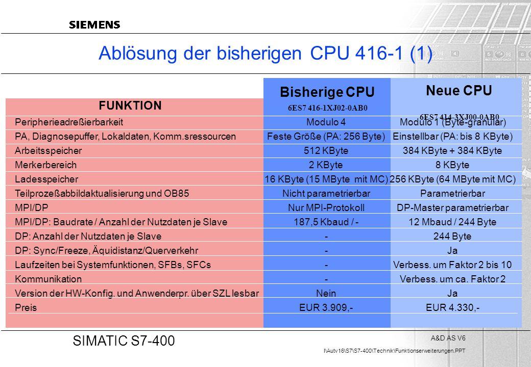 Ablösung der bisherigen CPU 416-1 (1)