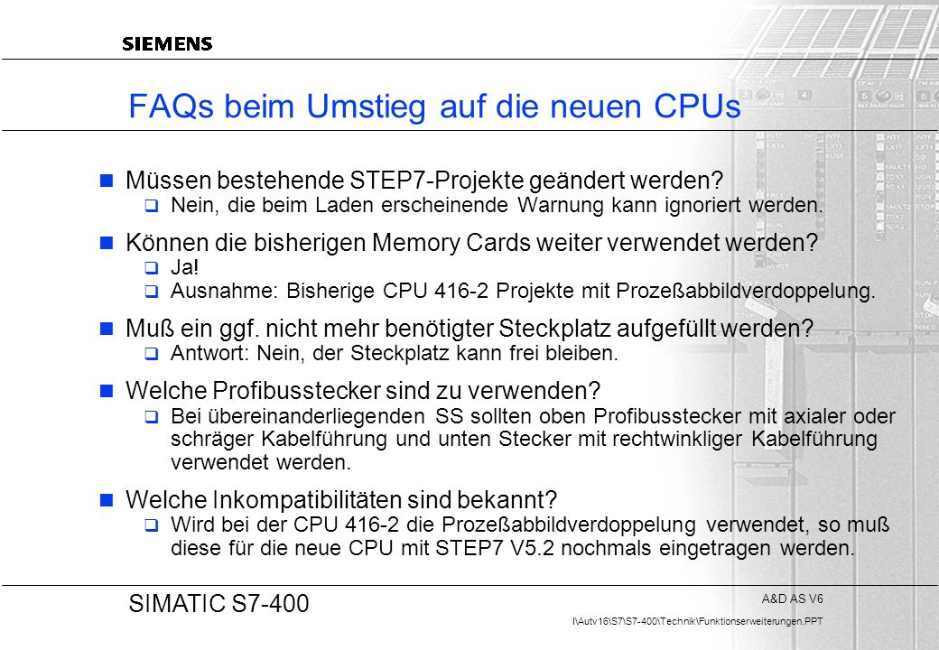 FAQs beim Umstieg auf die neuen CPUs