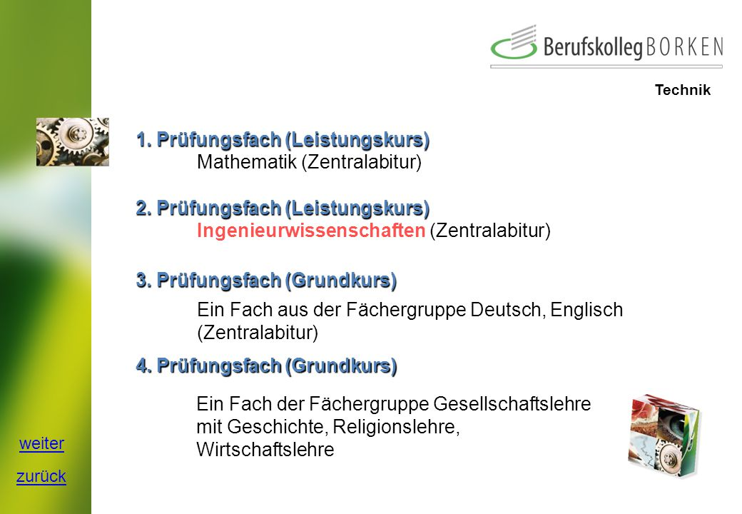 1. Prüfungsfach (Leistungskurs) Mathematik (Zentralabitur)