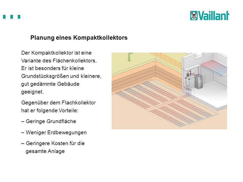 Planung eines Kompaktkollektors