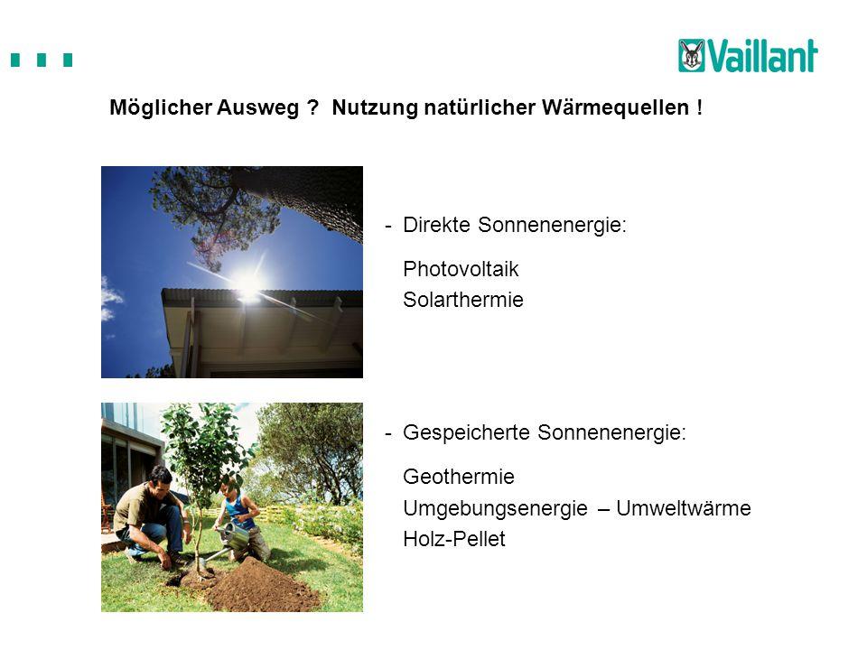 Möglicher Ausweg Nutzung natürlicher Wärmequellen !