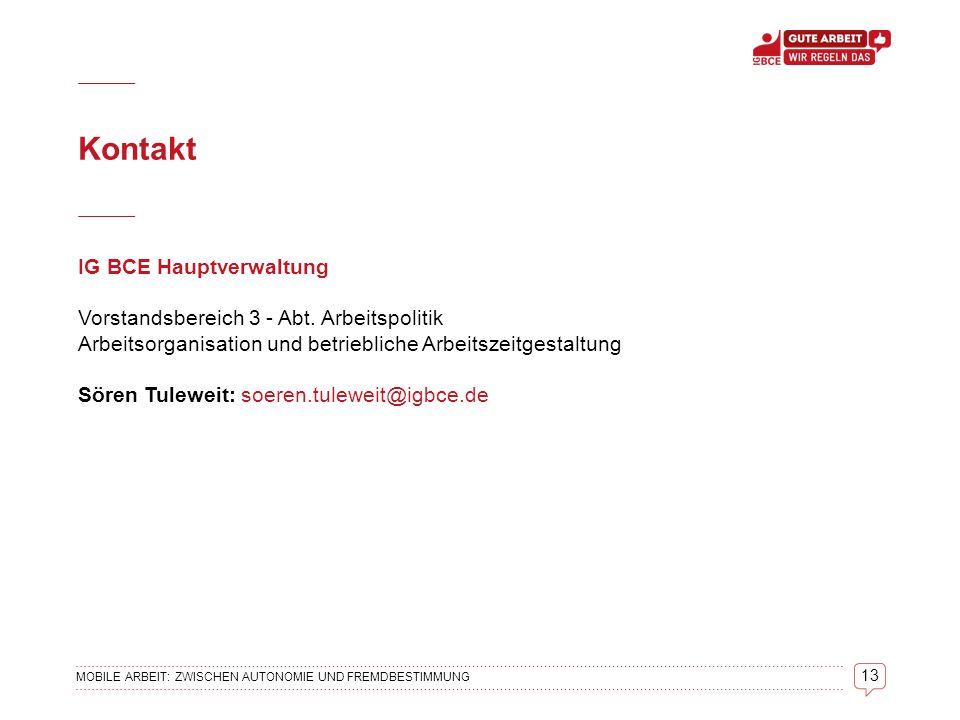 Kontakt IG BCE Hauptverwaltung