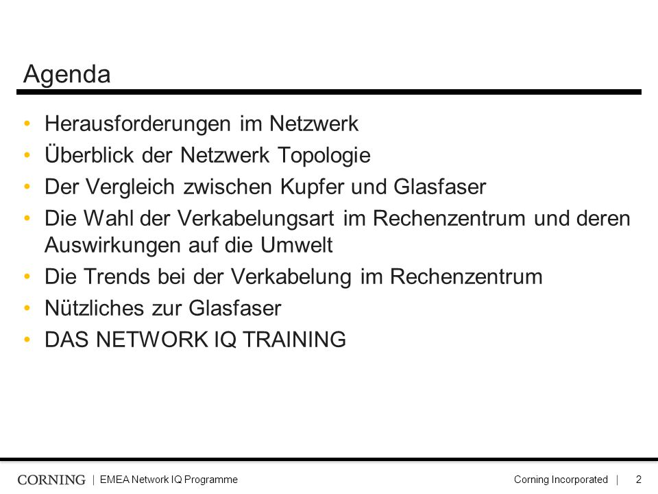 Agenda Herausforderungen im Netzwerk Überblick der Netzwerk Topologie