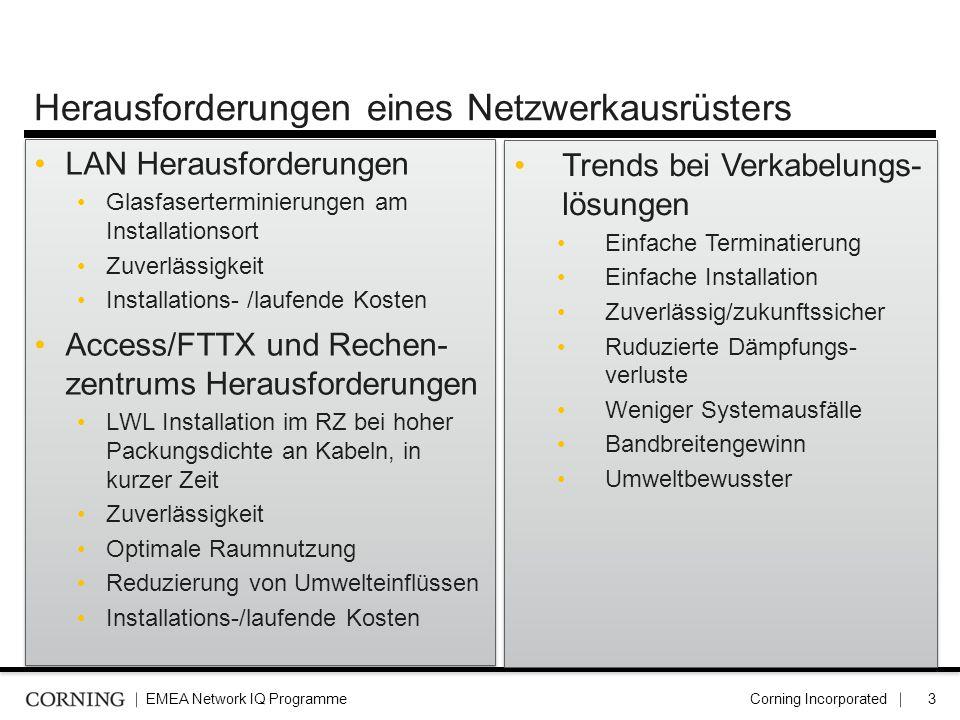 Herausforderungen eines Netzwerkausrüsters